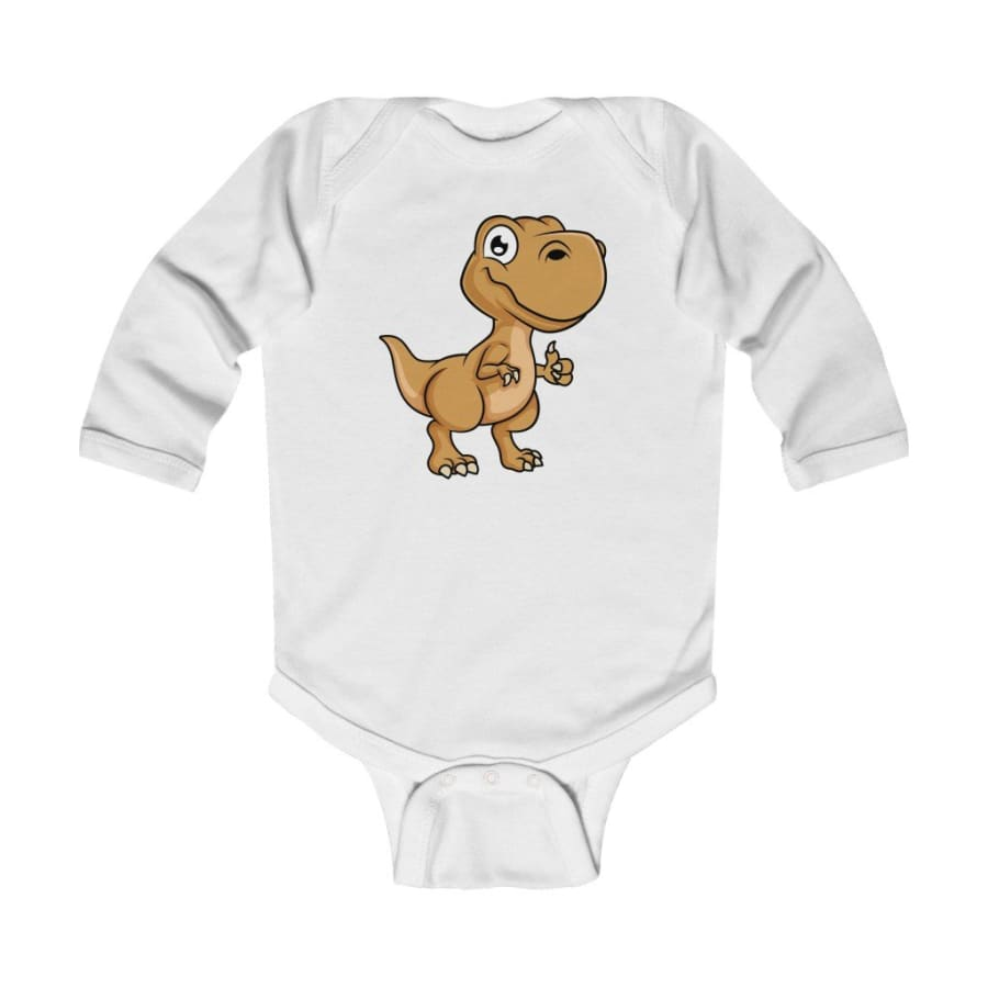 Infant Long Sleeve Bodysuit Baby Tyrannosaurus