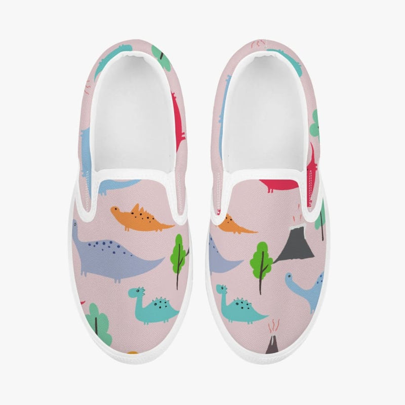 Jurassic Pink <br> Kids' Slip-On Shoes