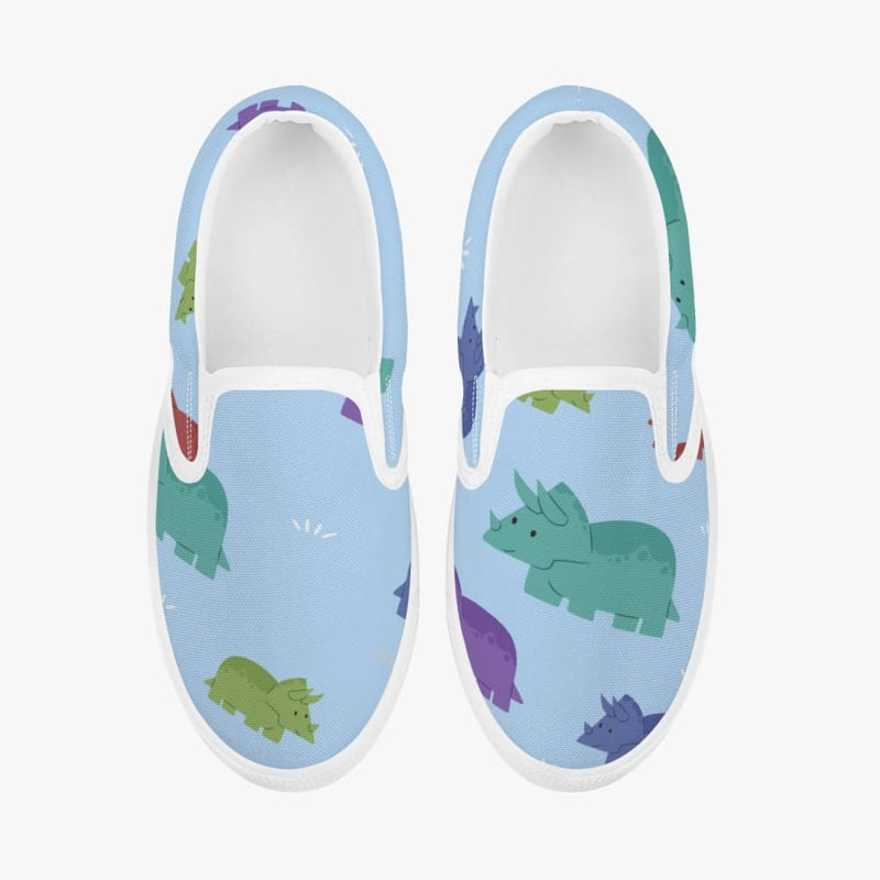 Lovely Triceratops <br> Kids' Slip-On Shoes