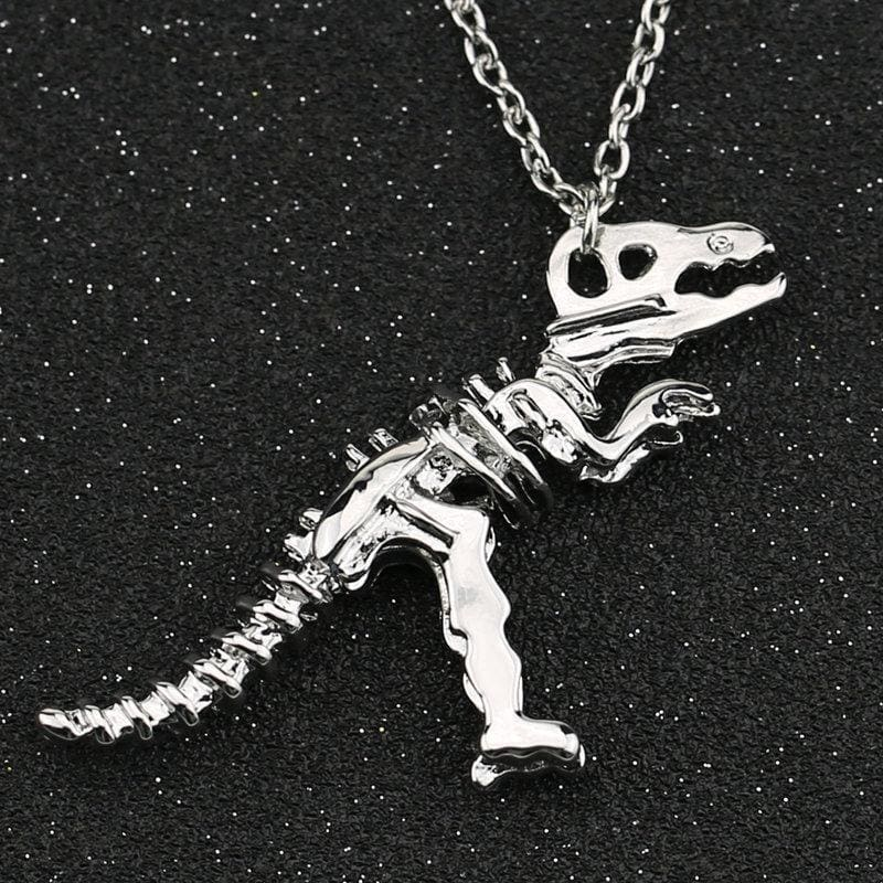 T-Rex Silver Plated Necklace