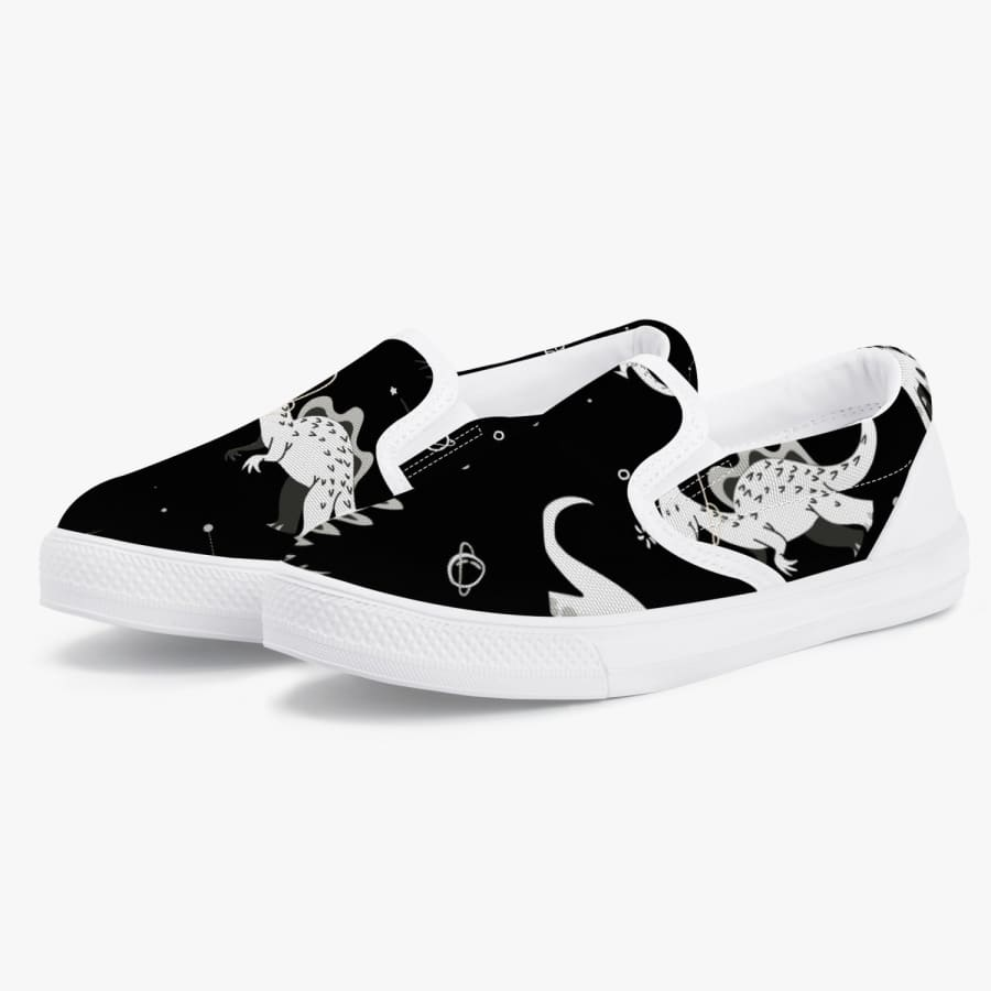 Space Dinosaurs <br> Kids' Slip-On Shoes