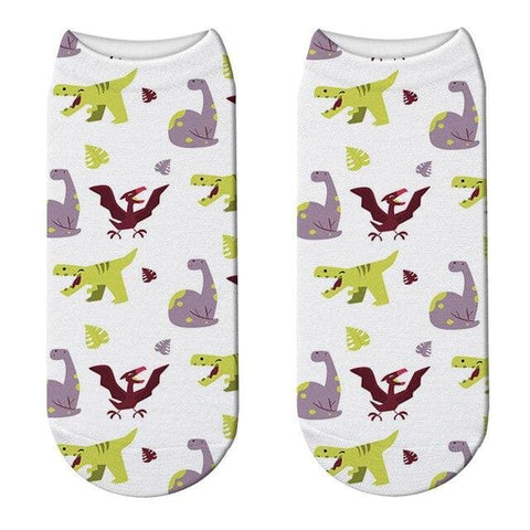 Women's Dino Short Socks
