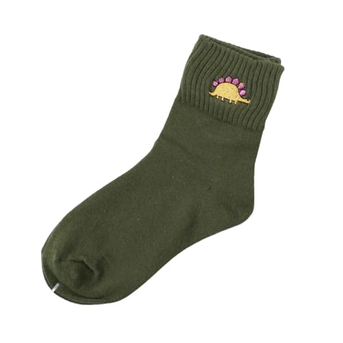 Women's Green Stegosaurus Socks