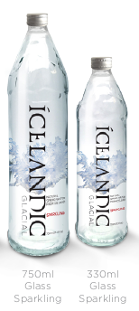 Icelandic Glacial Water 24/330 ML ( 11.1 Fl Oz) SPARKLING, GLASS