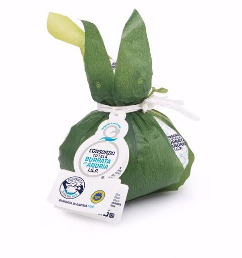 Burrata di Andria PGI with leaf 500g