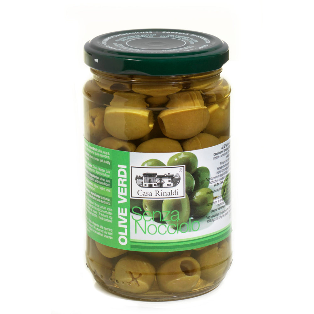 Pitted green olives 300g