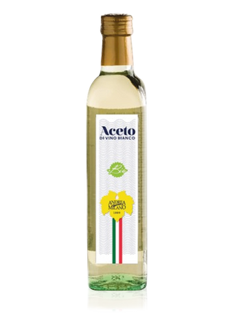 White wine vinegar - Glass bottle with screw cap 500ml