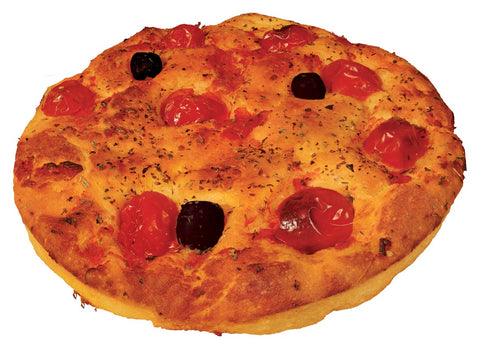 Altamura Focaccia with fresh tomato & olives 250g