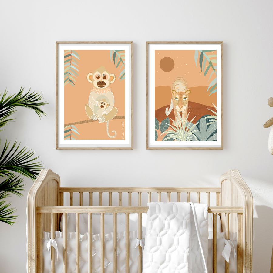 Art Print // Monkey Peach