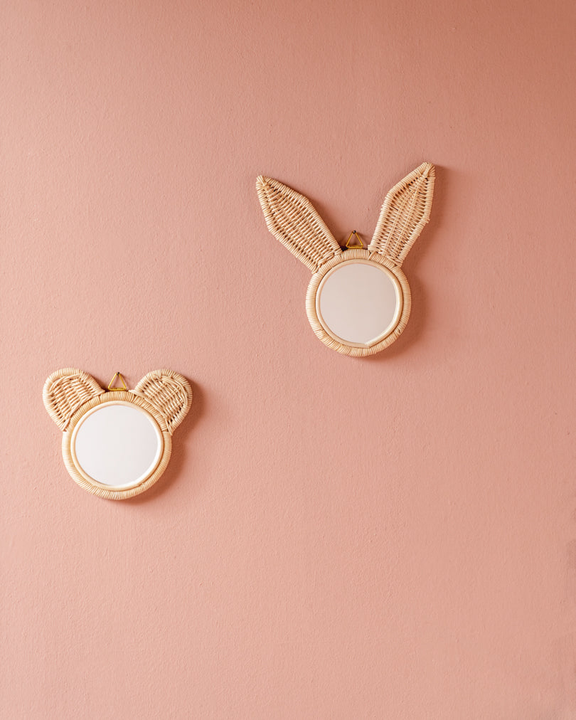 Rattan Mirror // Little Rabbit Ears