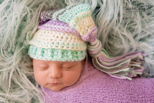Load image into Gallery viewer, Lavender, Ivory, Mint and Gray Tassel Hat