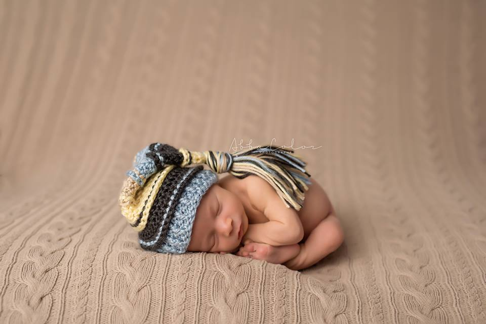 Baby Maize, Charcoal, Light Country Blue, Bone Tassel Hat