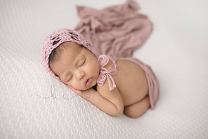 Lacy Newborn Bonnet