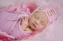 Load image into Gallery viewer, Lacy Newborn Bonnet
