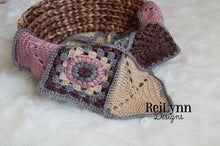 Load image into Gallery viewer, Mini Afghan in Dark Blush, Taupe, Gray and Bone