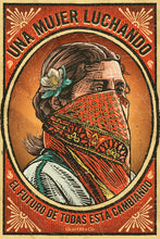 "Load image into Gallery viewer, Cartel ""Mujer Luchando"" / Gran OM & Co."