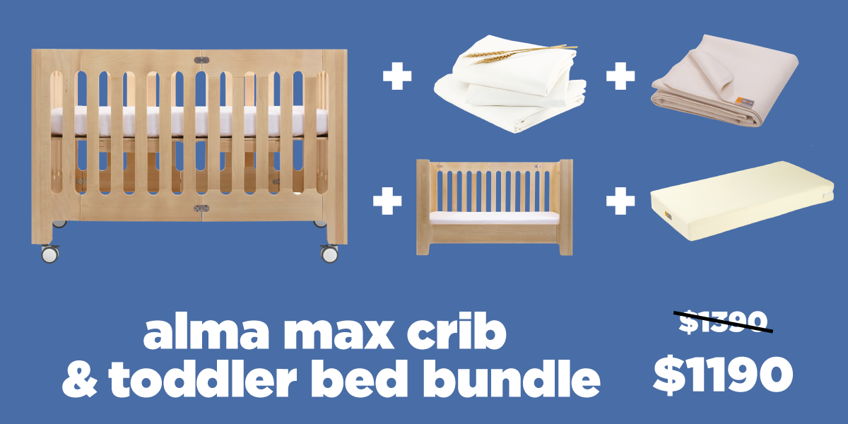 alma max crib toddler bed bundle