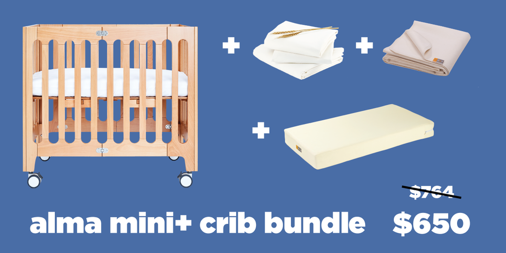alma mini + crib bundle