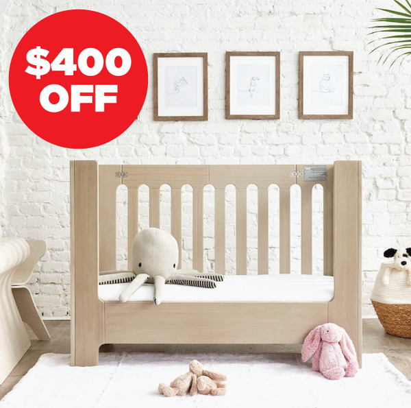 alma mini+ crib, alma papa conversion and toddler bed bundle