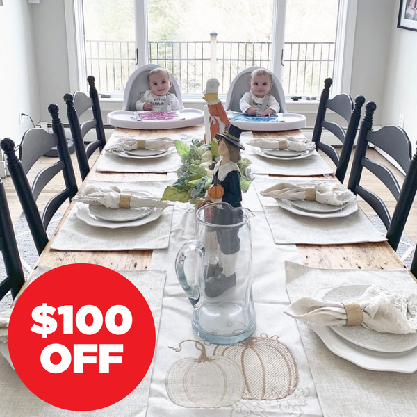 $100 off fresco white highchairs