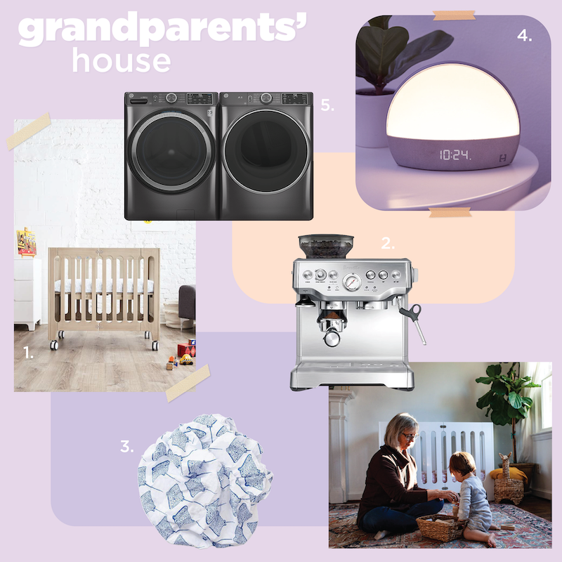 grandparent's house baby gear mood board