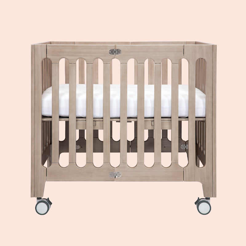 alma mini+ crib beach house grey