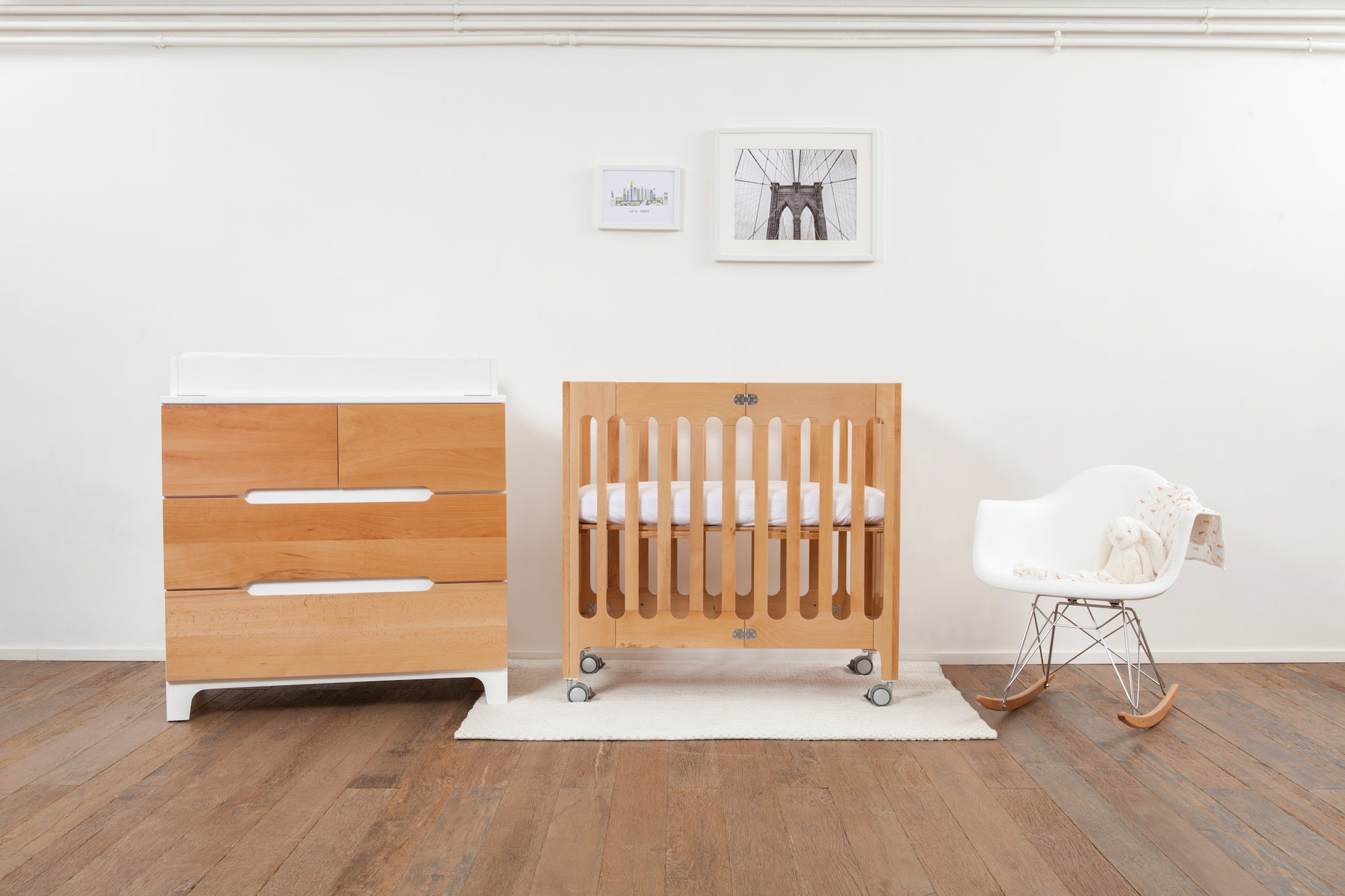 alma mini solid wood crib bloom