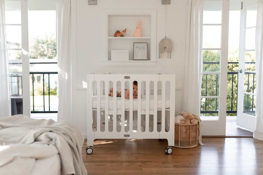 alma mini plus crib coconut white