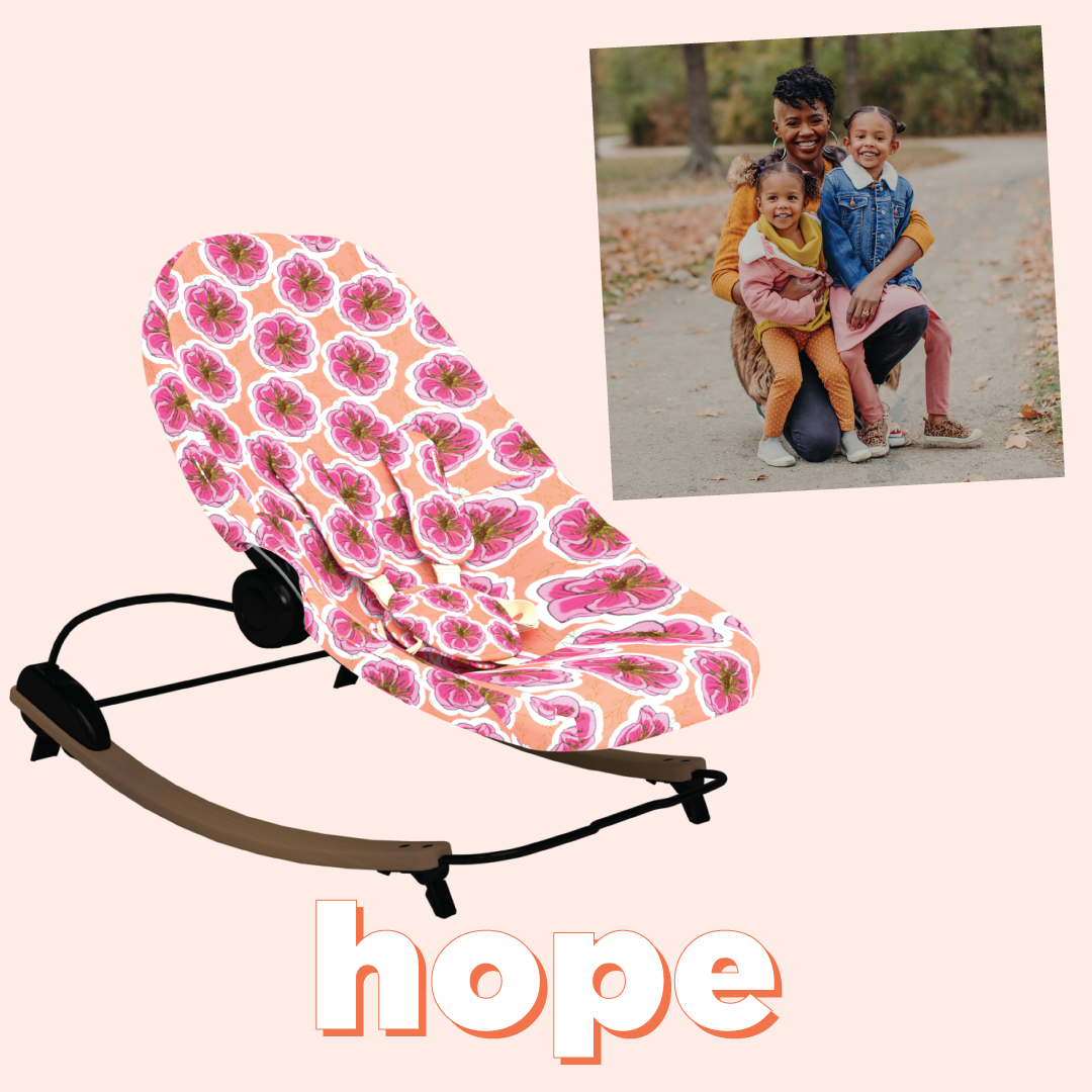 bloom coco go bouncer hope pattern