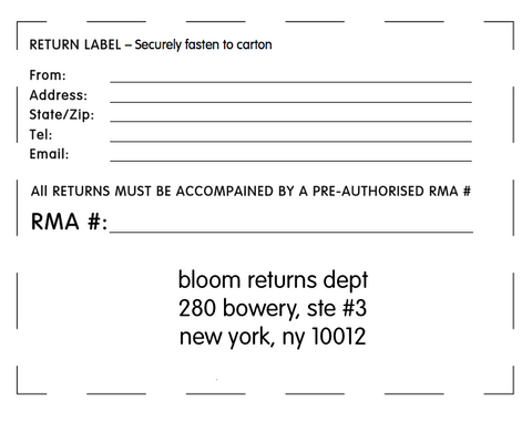 Return And Exchange Form
