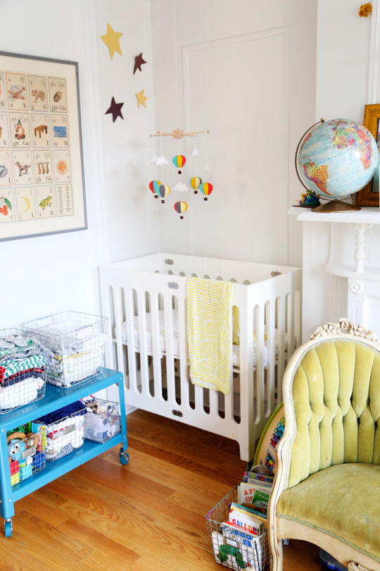 love taza alma mini crib nursery nook