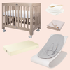 alma mini crib + coco lounger bundle