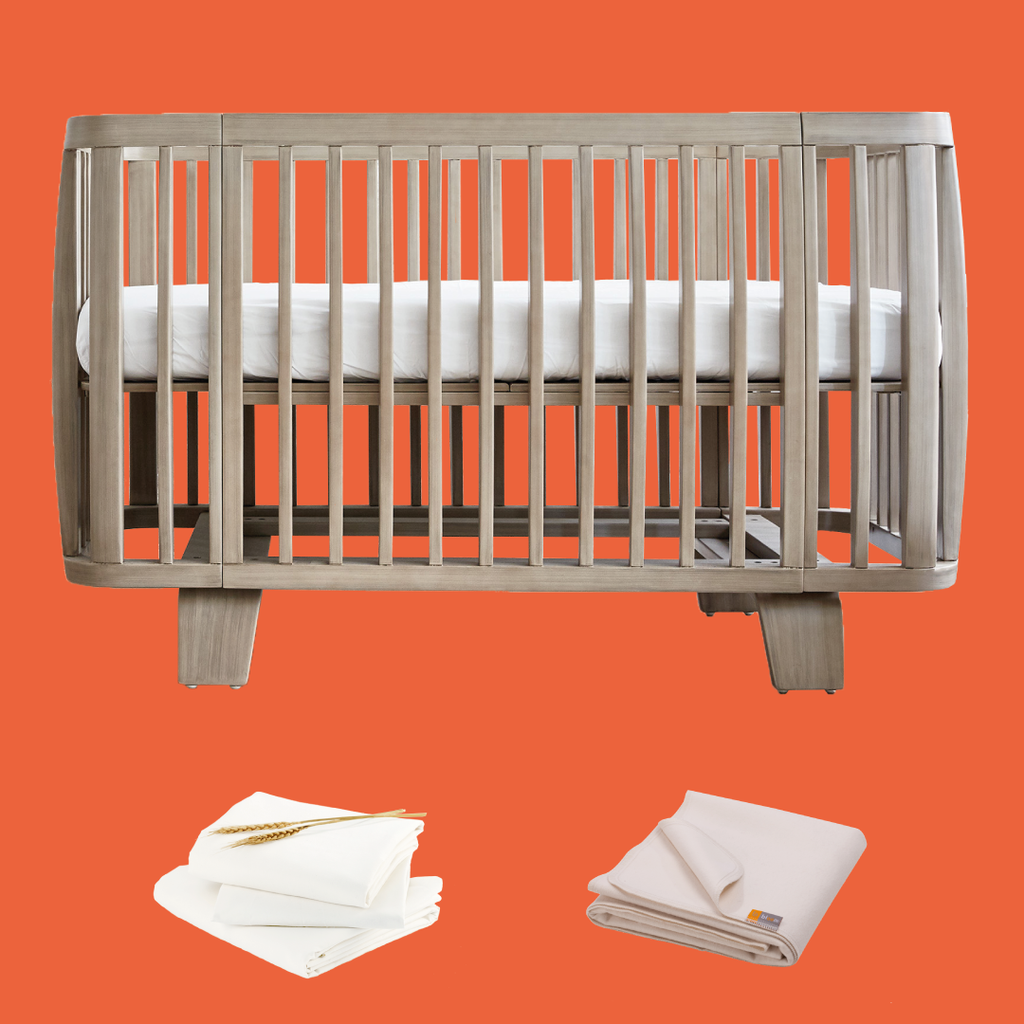 retro crib bundle - beach house grey