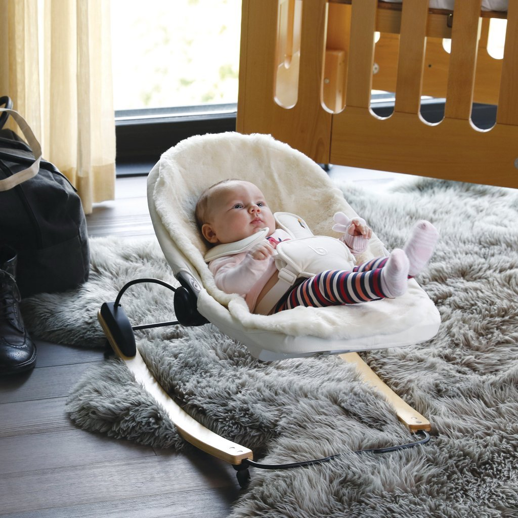 coco go 3-in-1 bouncer natural wood