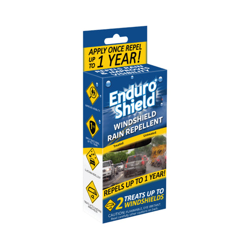 EnduroShield Rain Repellent - Lasts up to 1 year & Treats 2 Windshields