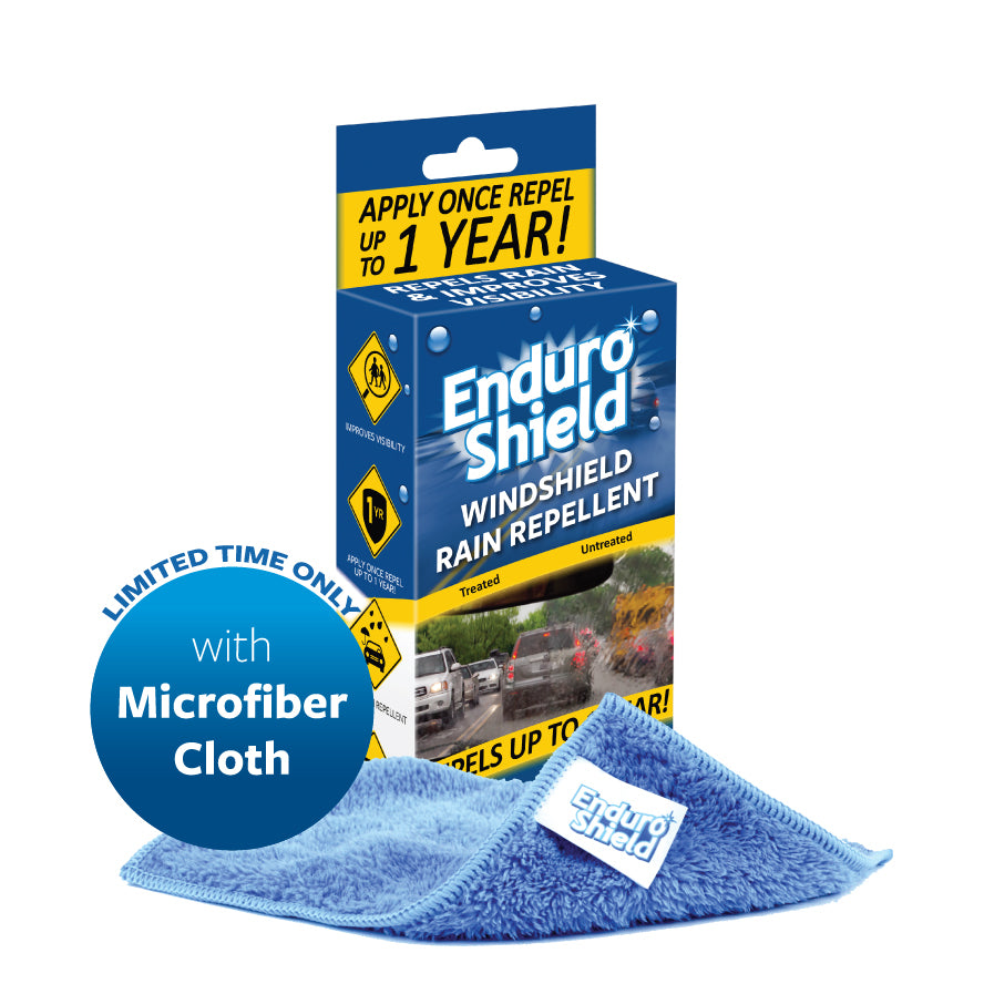 EnduroShield Rain Repellent - Lasts up to 1 year & Treats 2 Windshields - Special