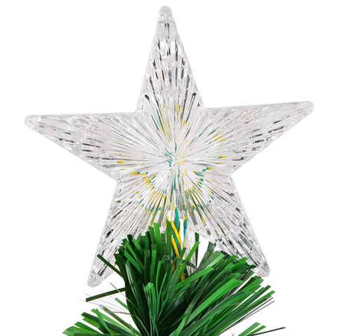 This fiber optic illuminated star changes color and gives dimension to your 6ft christmas tree