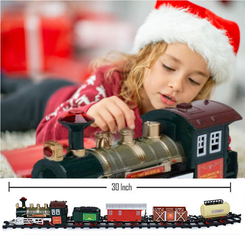 See the joy on the kids faces as they set up and play with the best christmas tree train set.  Watch it run around the Christmas tree and give hours of fun and entertainment
