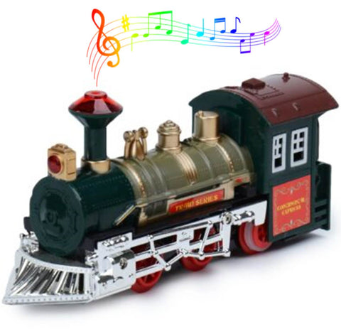 This christmas train is the perfect holiday train set.  Set up your oval or round circuit round the base of your christmas tree and listen to the choo choo of the engine, hear the whistle blowing and the jubilant bells as it makes it's way round your tree.