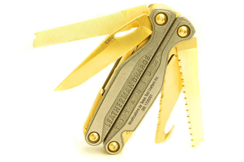 TTC Modified Tool – Golden Eagle Edition – Based on Leatherman Charge TTi