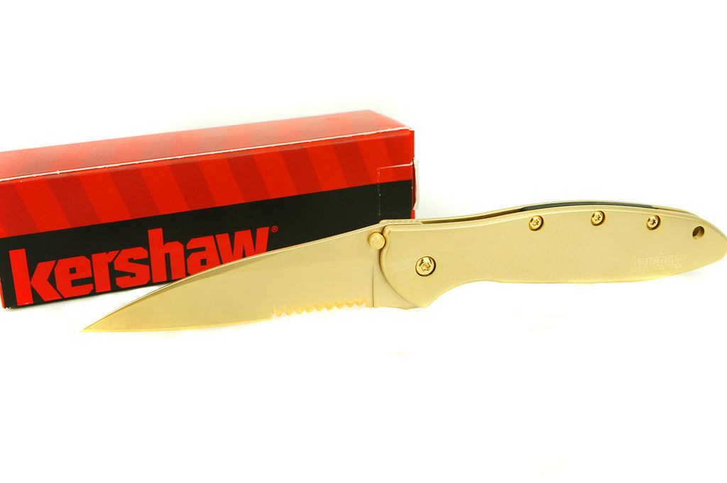 Kershaw 1660ST Serrated Leek - Golden Eagle Edition