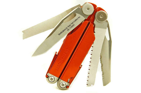 TTC Modified Tool - Burnt Orange Ceramic Edition - Based on Leatherman Wave