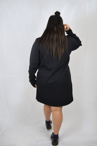Abstract Fleece Dress