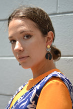 Load image into Gallery viewer, Tiered Zebra Statement Earring