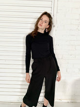 Load image into Gallery viewer, Jet Black Elastic Waist Pants