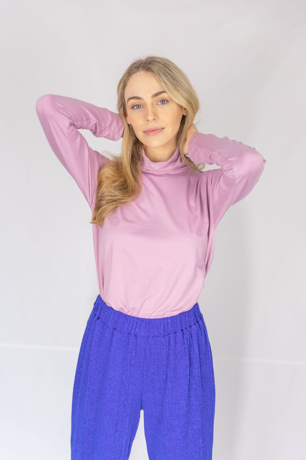 Soft Lilac Turtle Neck