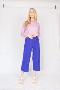 Knitted Culotte Pant Electric Blue