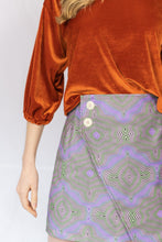 Load image into Gallery viewer, Hypnotize Printed Asymmetrical Skirt