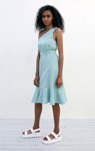 One Shoulder Frill Dress