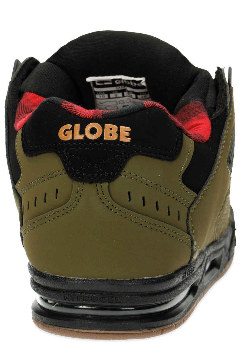 Globe Shoes Sabre Olive / Black / Plaid